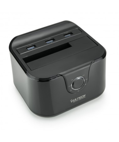 Docking Station Sata - Max 1HDD - 3 Porte USB 3.0 - Quick Charge  - Nero