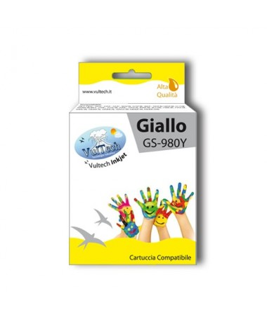 Cartuccia Compatibile  GS-980Y Giallo (LC1100 LC980)