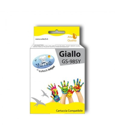 Cartuccia Compatibile  GS-985Y Giallo (LC985)