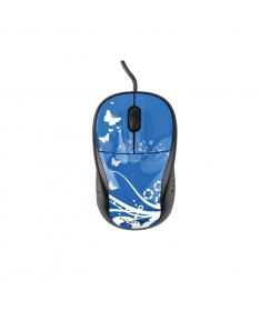 Mini Optical Mouse MI-51A USB 2.0 1000 DPI - Blue