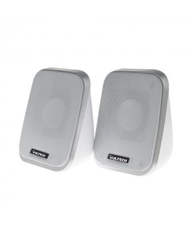 Casse acustiche 2.0 autoalimentate USB 2.0 - Bianche
