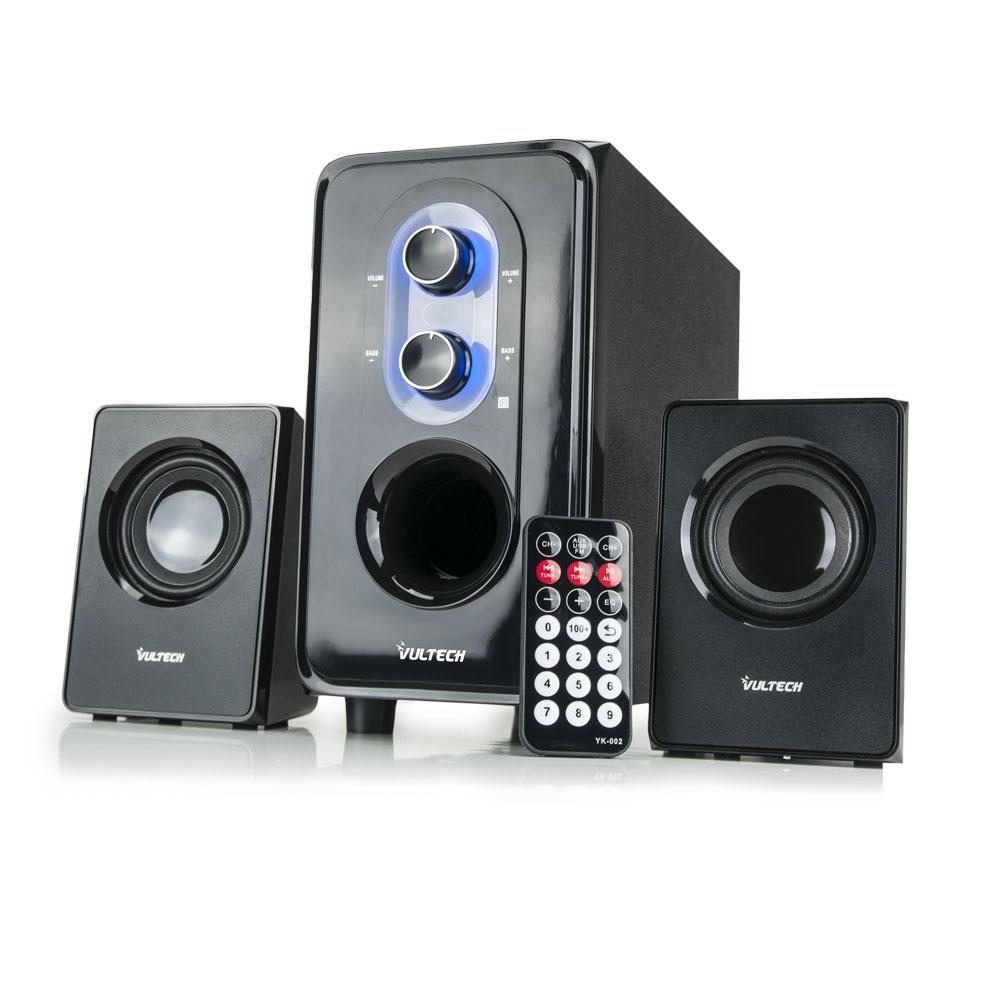 Casse acustiche 2 1 25w rms usb sd fm remote control - Casse acustiche design ...