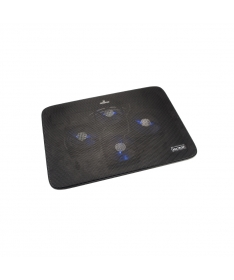 "Supporto per Notebook 15.6"" con 4 ventole e porte USB - Nero"