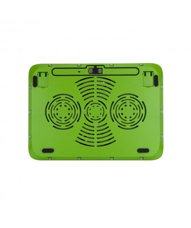 "Supporto per Notebook 15.6"" con 4 ventole e porte USB - Verde"