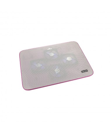 "Supporto per Notebook 15.6"" con 4 ventole e porte USB - Rosa"