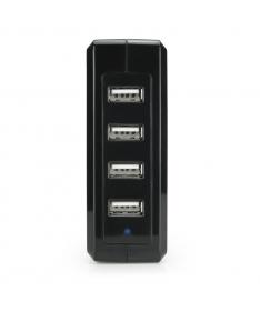 Caricatore Adattatore Universale da Tavolo 4 USB 220V 5V 6,8A - Nero   CC-068N