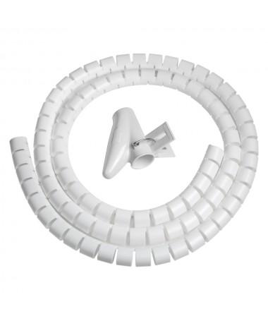 Spirale Copri Cavo 1,5 Mt Flessibile - Bianco