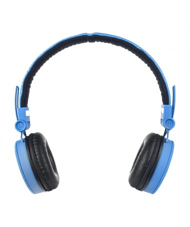 Headphones Super Bass with Mic and volume control – Blue