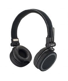 Cuffie Headphones Super Bass con microfono e regolatore volume - Nere