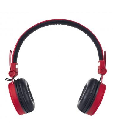 Cuffie Headphones Super Bass con microfono e regolatore volume - Rosse
