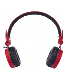 Headphones Super Bass with Mic and volume control – Red