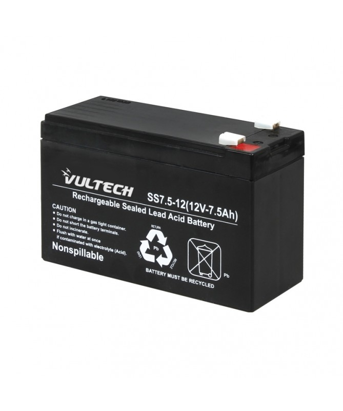 GS-7AH 12V 7,5A Valve-regulated lead-acid battery.