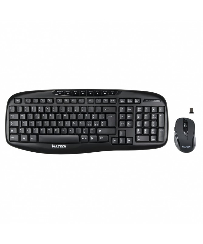 Kit tastiera e mouse Wireless 1000DPI 2.4GHz