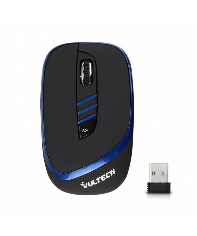 Mini Mouse Ottico Wireless Blu e Nero 1600Dpi USB 2.0