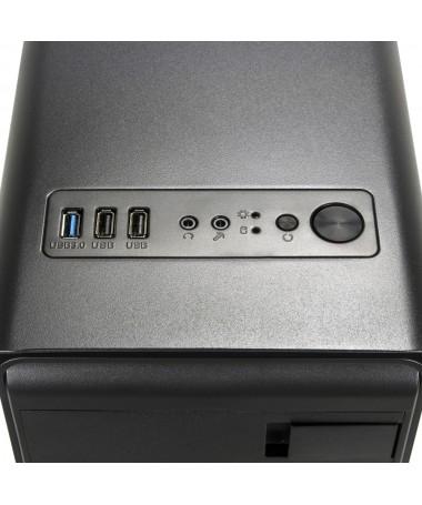 Case Gaming Atx GS-0285BL Darkline con ventola LED Blu e alimentatore 600W
