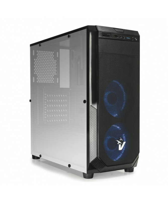 Case Gaming Atx GS-0485BL BlackDoom con ventole HALO LED Blu
