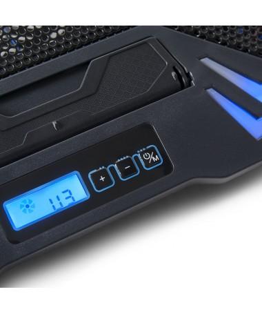 """Supporto Per Notebook fino A 15.6"""" Con 5 Ventola - Porte USB -LCD"""