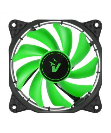 Ventola da 120mm con illuminazione HALO LED - Verde
