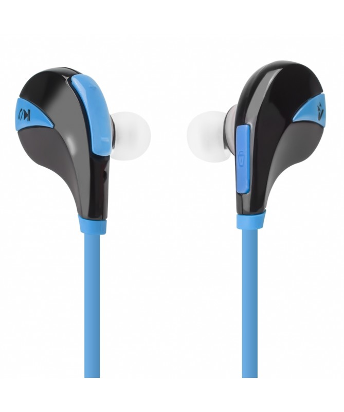 Auricolari Bluetooth v4.0 in-ear wireless con microfono - Blu
