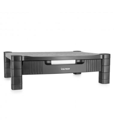 Supporto per monitor/Stampante in plastica regolabile in altezza con cassetto