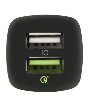Caricatore da auto con doppia uscita USB QC 3.0 - CA-QC3