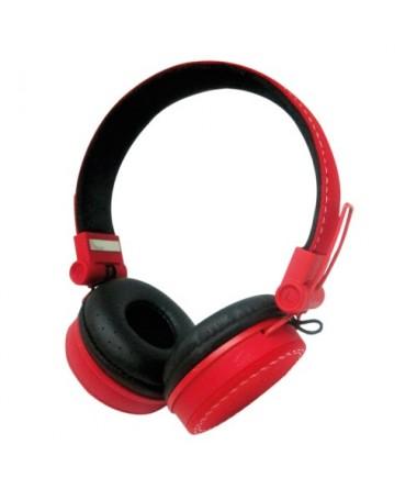 Cuffie Headphones Rosse con Microfono e Regolatore Volume