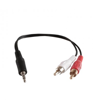 Cavo Audio AUX 3,5mm To RCA Maschio 25cm