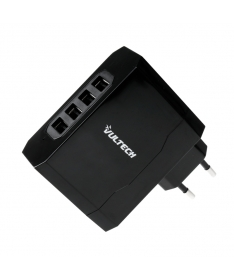 Caricatore Adattore Universale 4 USB 220V 5V 4,8A - Nero