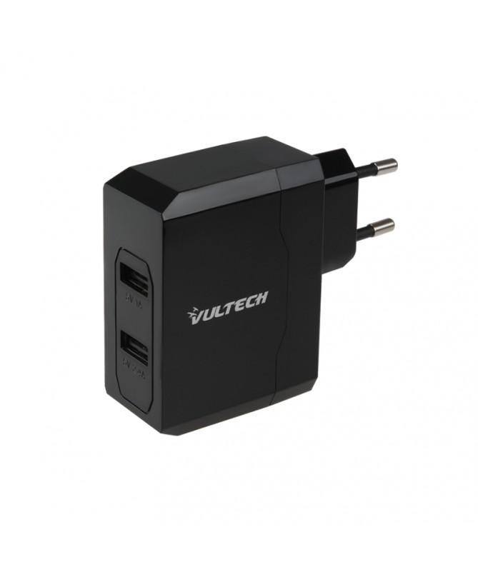 Caricatore Adattore Universale 2 USB 220V 5V 3,4A - Nero