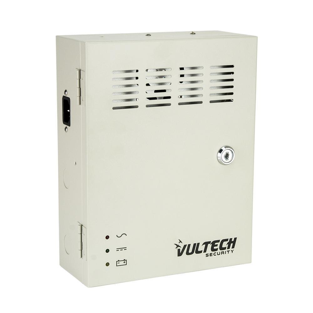 Box Alimentatore Stabilizzato Centralizzato Vultech VS-CS1209-10A-BK 9 Uscite 10A Funzione Backup